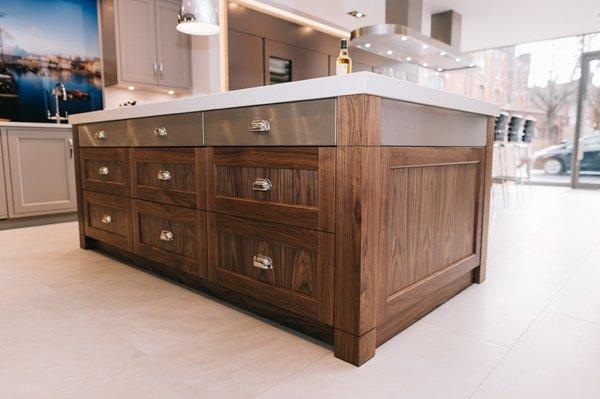 wood effect kitchen island