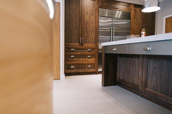 woode effect kitchen furniture