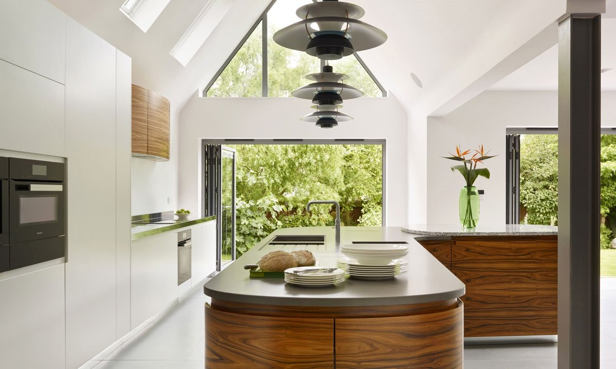 patio doors out of a kitchen