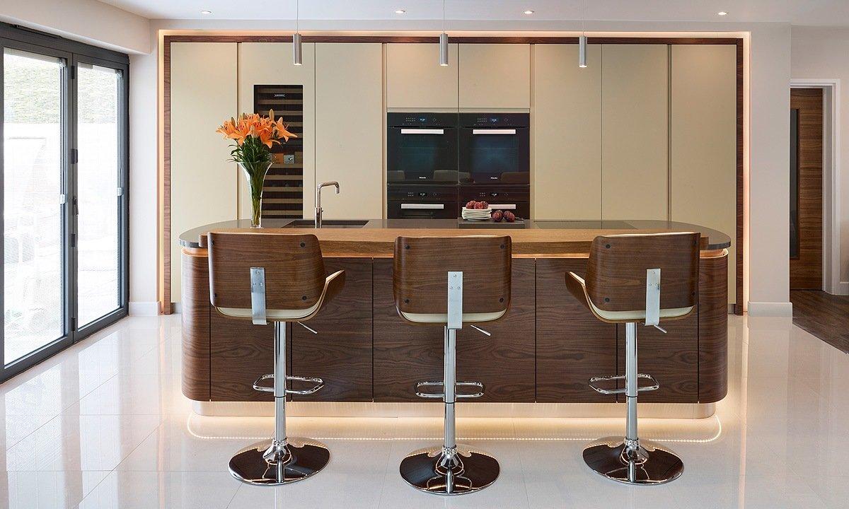 wooden effect bar stools