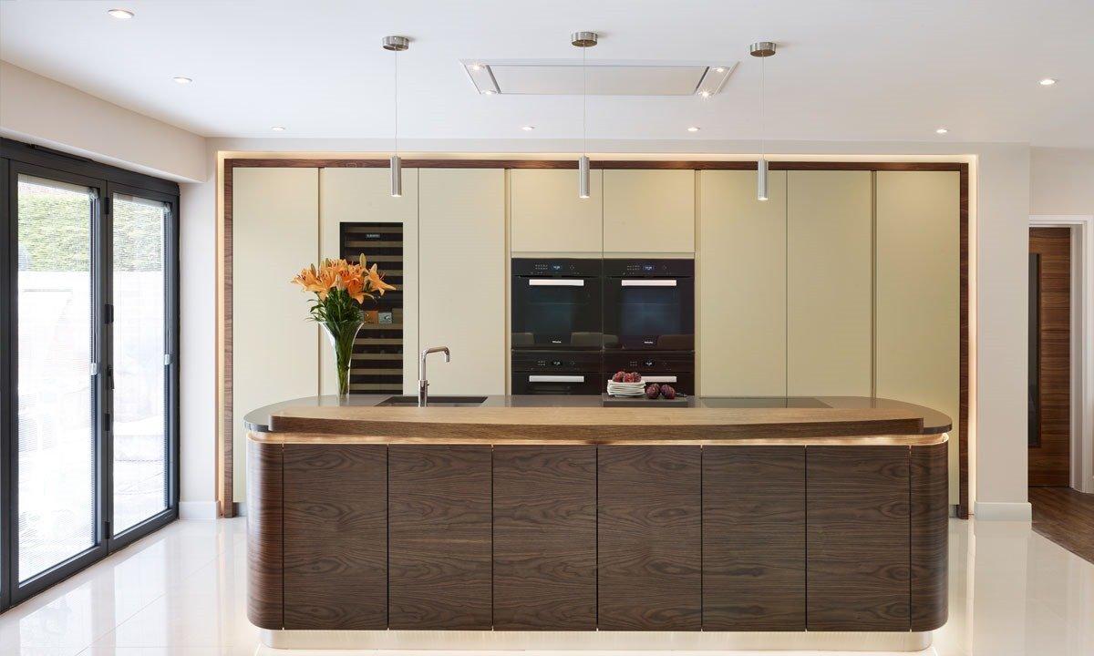 Island in a kitchen