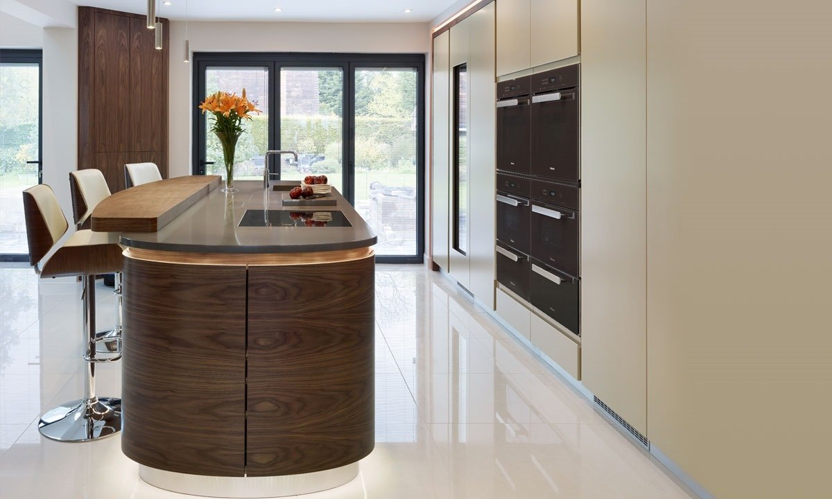 Wood effect kitchen