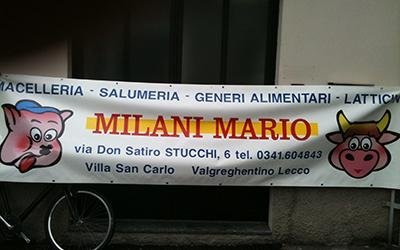Striscione Milani