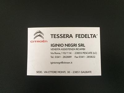 Stampa biglietti da visita Lecco