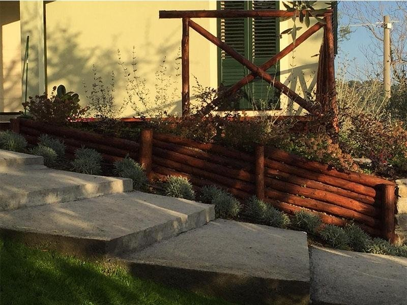 Steccato e briglie in legno