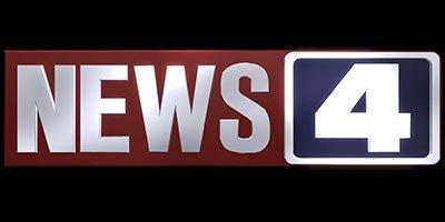 News four red blue logo