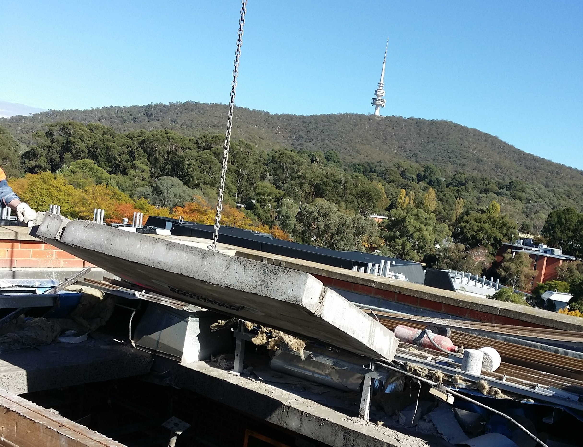 Undercut Concrete Cutting Canberra - roof removal 23
