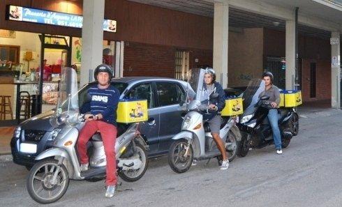 motorini porta pizza