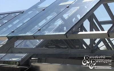 Struttura di acciaio e PVC per tetto di vetro
