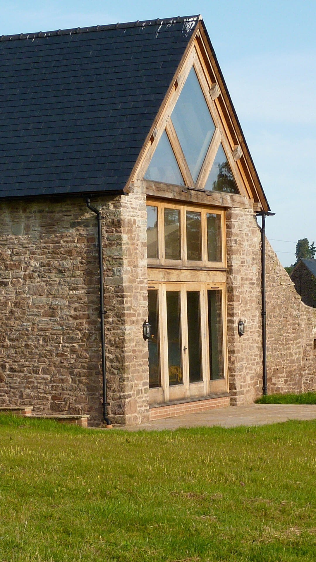 tall brick house built by cheltenham build