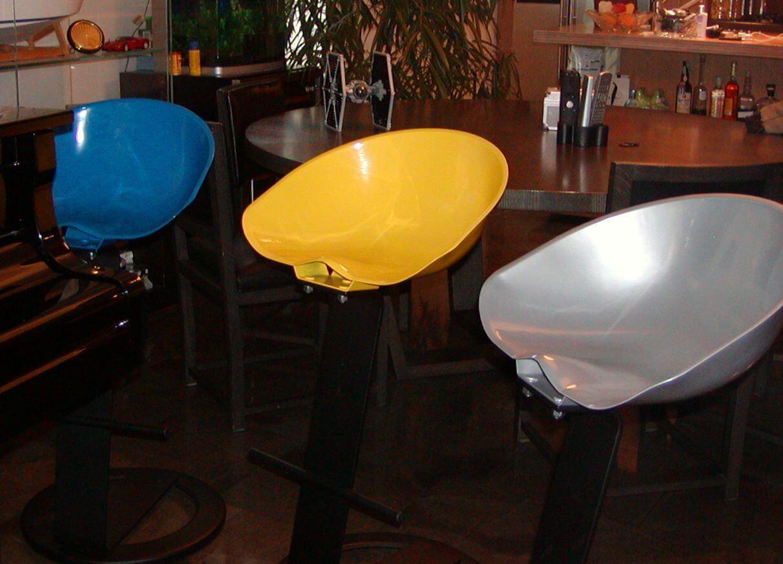 sgabelli leonard di diverso colore