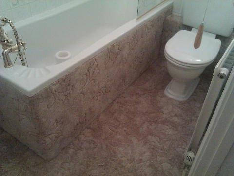attractive bathroom flooring
