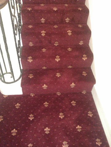 red stairs carpeting
