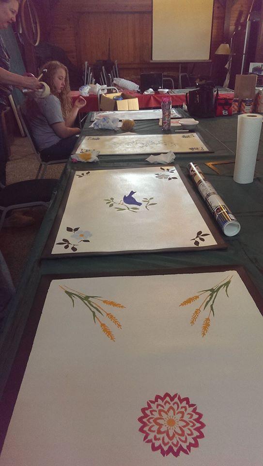 paint daub stencils
