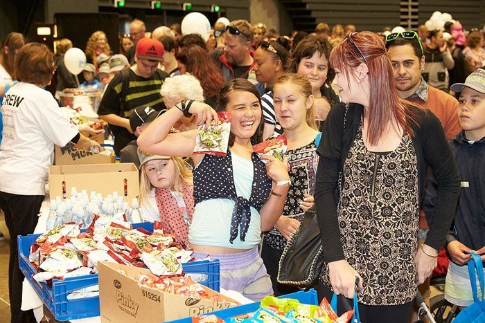 People and Children celebrating at a 2015 Special Christmas Event in Christchurch