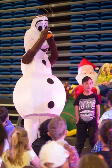 People and Children celebrating at a Christmas Event in Wellington