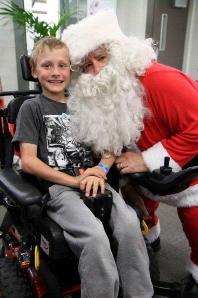 Kid with a Santa