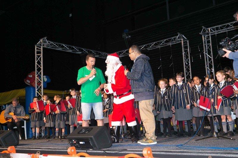 Host with Santa