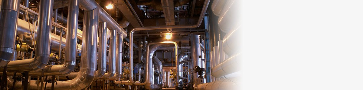 commercial pipes inside energy plant