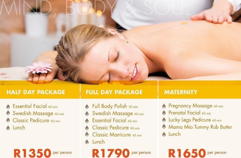 Spa packages - Half Day, Full Day and Pregnancy Spa Package