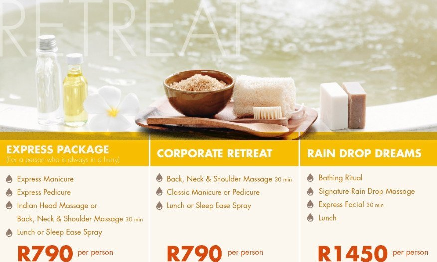 Coiporate Spa Packages
