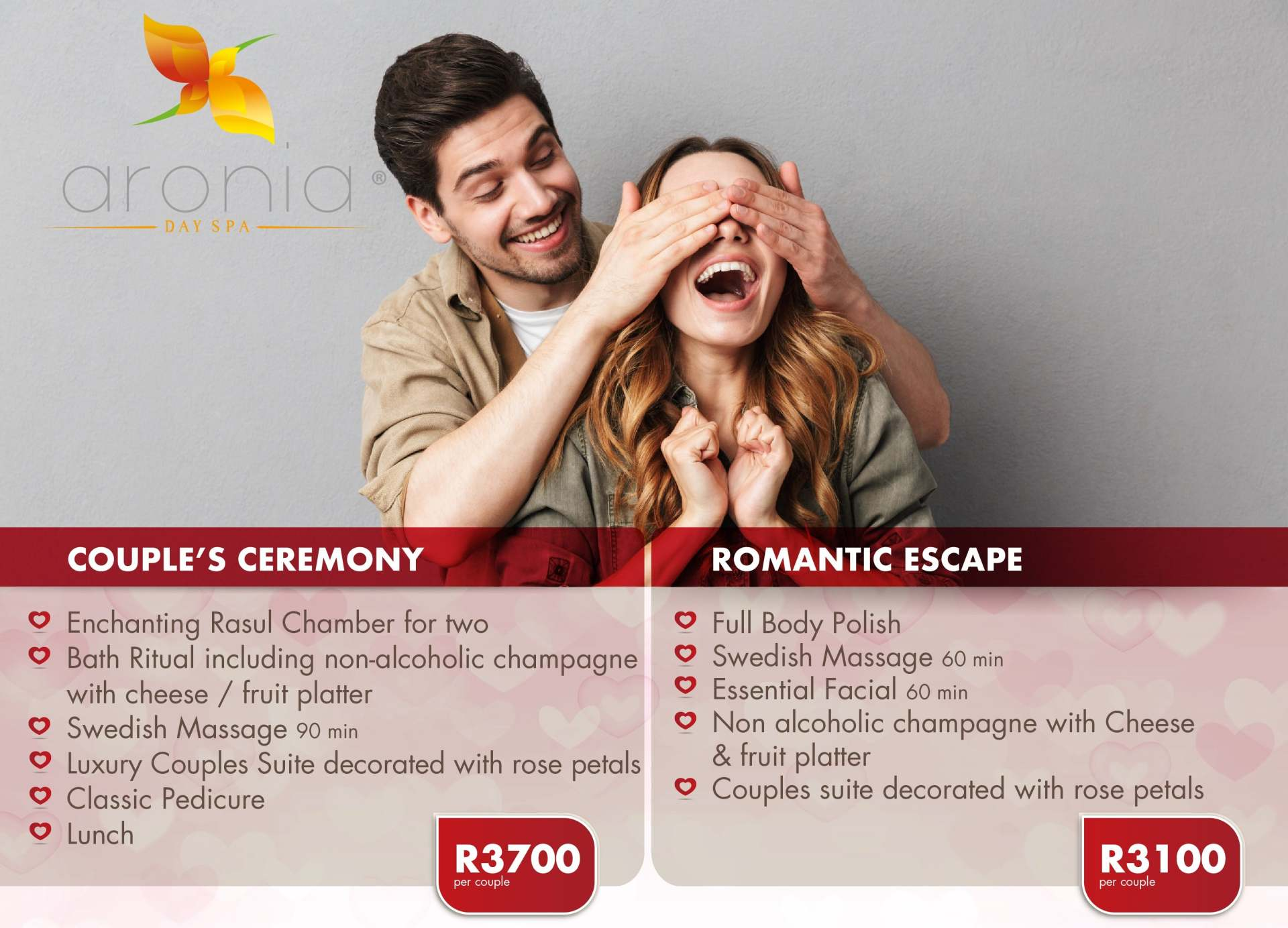 Aronia Day Spa - Couples Massages and Packages