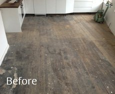 wooden flooring with stains