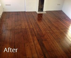 wooden flooring restored