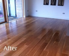 wooden floor restored