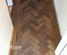 wooden floor to be repaired