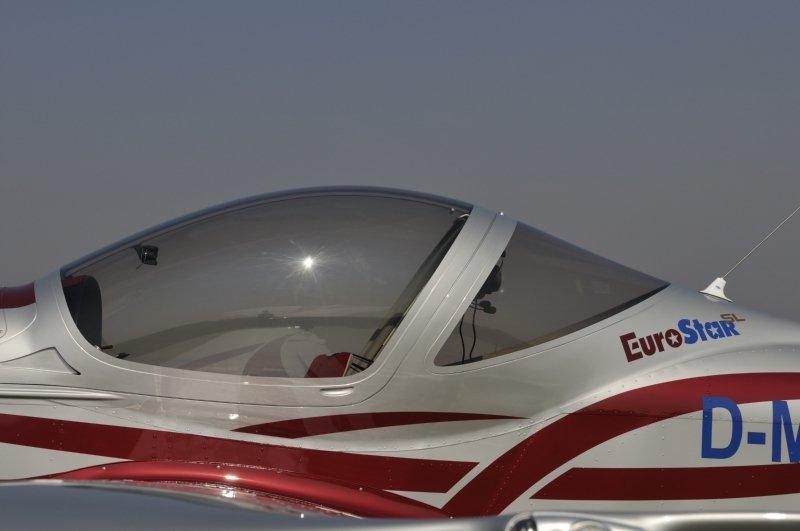 vista del vetro di un aereo
