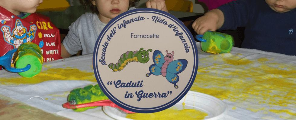 foto di due bambini con logo IL BRUCO E LA FARFALLA