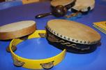 tamburello e maracas per bambini