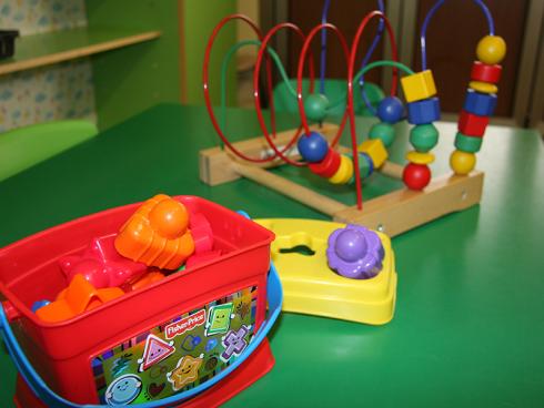 costruzioni e abaco per bambini