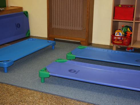 stanza del riposo della scuola d'infanzia