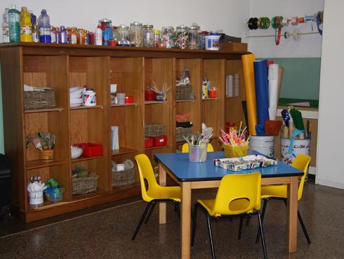 angolo creatività all'interno della scuole dell'infanzia