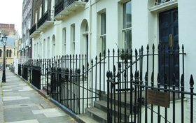 Wrought Iron Railings - Derby, Derbyshire - Derbyshire Gates & Railings - House