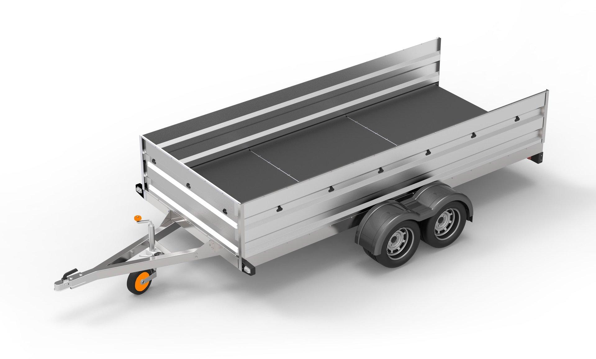 trailer with jockey wheel