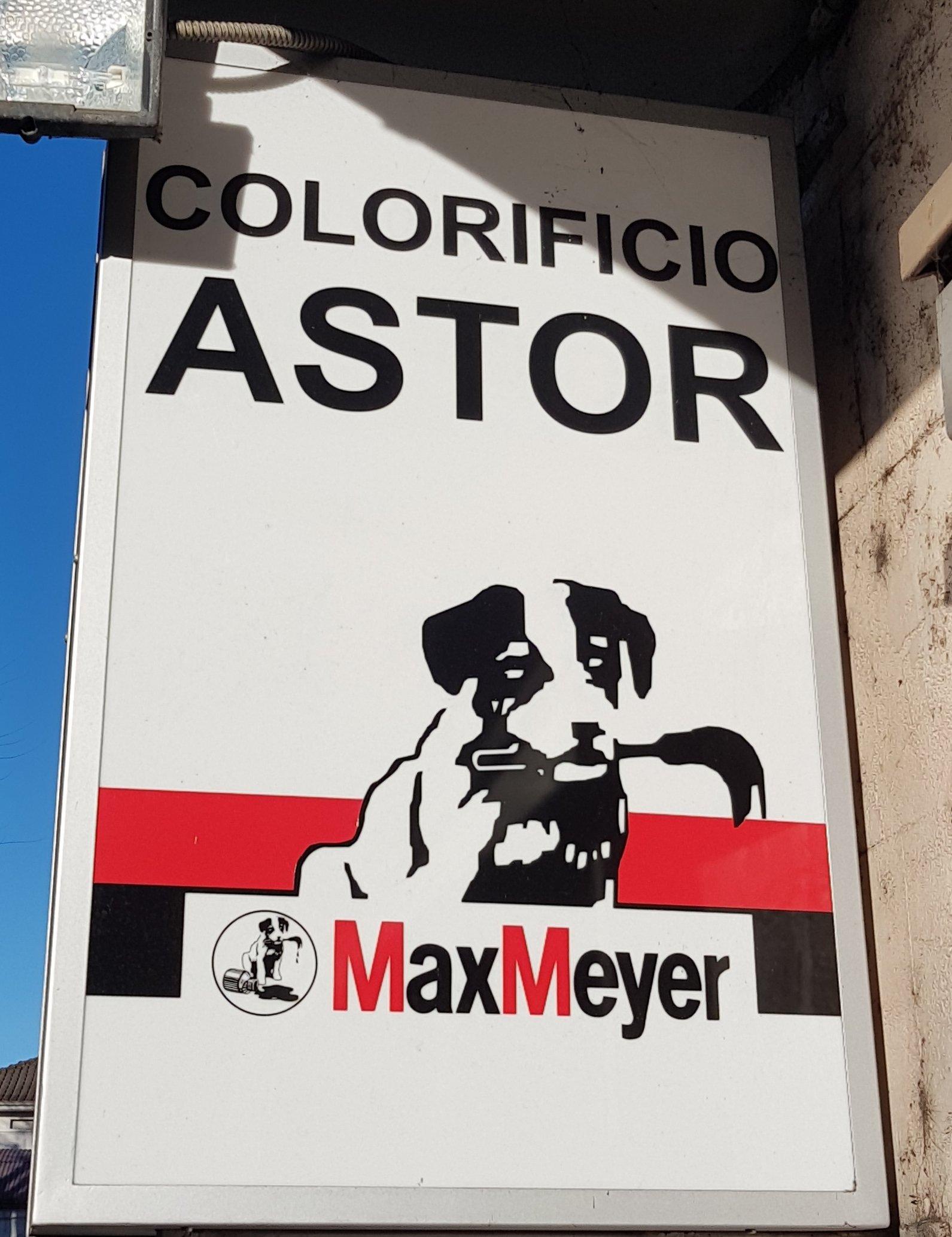 Insegna del Colorificio Astor