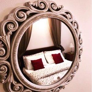camere da letto vista in specchio