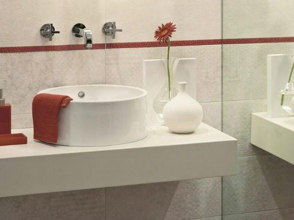 Lavandino circolare e rubinetti de design