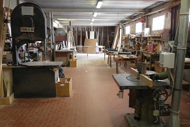 officina lavorazione legno