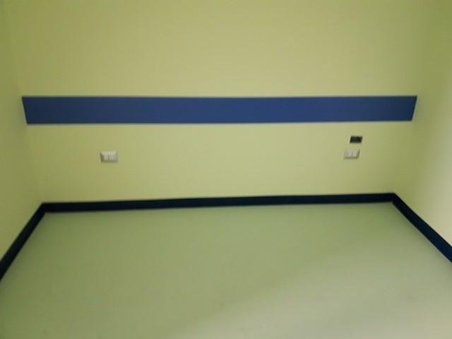 Ospedale ss.annunazita  Taranto reparto  pediatria  pavimenti vinilici  FORBO e protezioni murali ACROVINYL CIESSE FRANCE