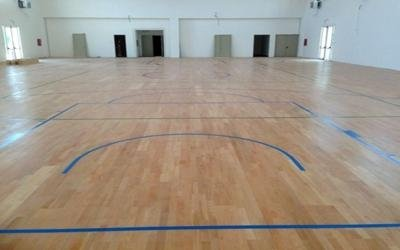 Campo basket in parquet