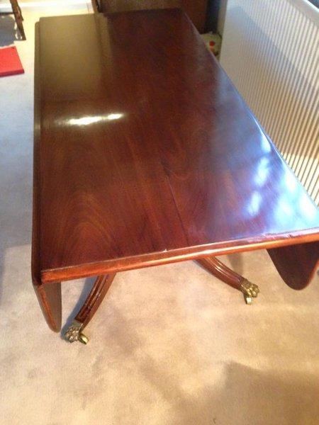 Wood furniture restoration