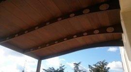 tettoia, tetto in legno, strutture in legno