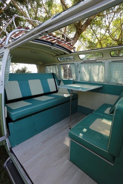 camper bed brown