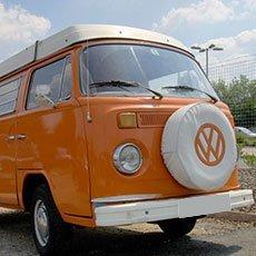Volkswagen orange van