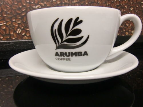<span>9oz Coffee Cup & Saucer</span>Large cup