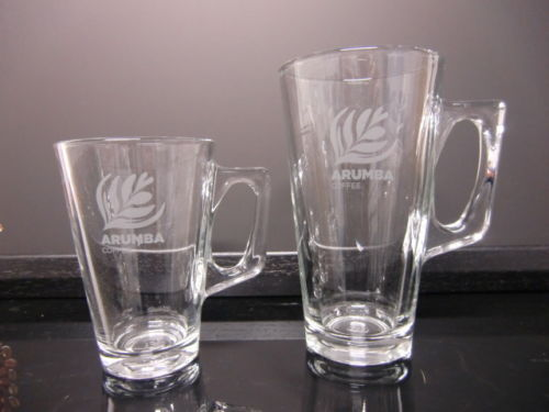 <span>Latte Glasses</span>8oz and 12oz available